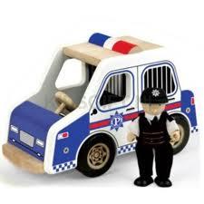 Pin toys politieauto.