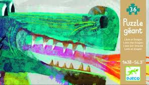 Djeco vloerpuzzel draak lengte 1 meter 38 !!