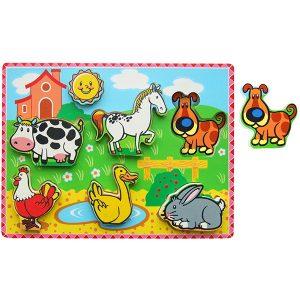 Allehand Puzzel, boerderijdieren extra dik