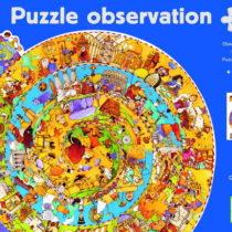 Djeco, ronde observatie puzzel historie  350 stukjes.