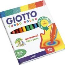 Giotto, turbo color stiften 12 stuks.