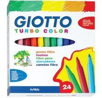 Giotto, turbo color stiften 24 stuks.
