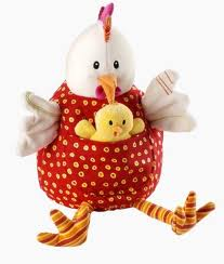 Lilliputiens,  kip en haar kuikens, Ophélie.