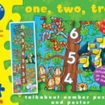 Orchard toys, legpuzzel een, twee, drie, 30 stukjes.