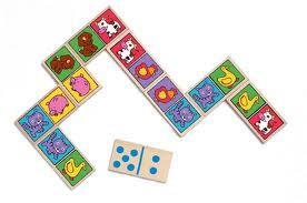 Djeco, houten domino met dierenafbeeldingen.-450