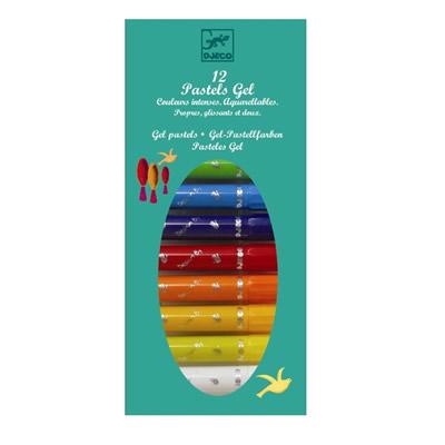 Djeco, pastel wasco stiften, intense kleuren aquarel