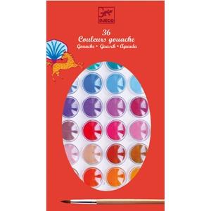 Djeco, waterverf 36 kleuren inclusief penseel.