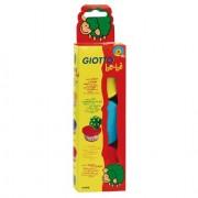 Giotto be-bé 3 potjes zachte veilige klei ( rood, geel en licht blauw ) voor de allerkleinsten.