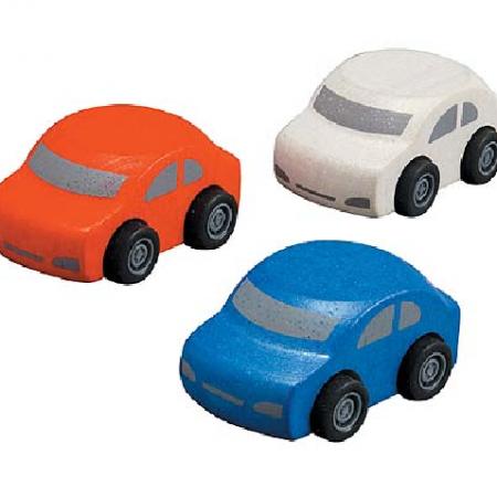 Plan toys, auto's drie stuks