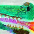Djeco vloerpuzzel draak lengte 1 meter 38 !! -0