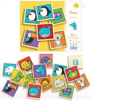Djeco memospel met 32 houten kaarten -1248
