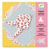 Djeco origami, 100 velletjes bedrukt vouwpapier