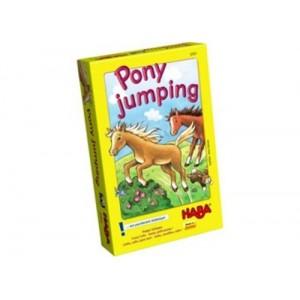 Haba pony jumping, dobbelspel met paarden
