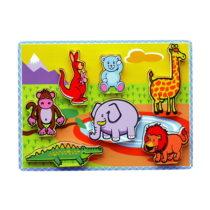 Allehand houten puzzel wilde dieren extra dik