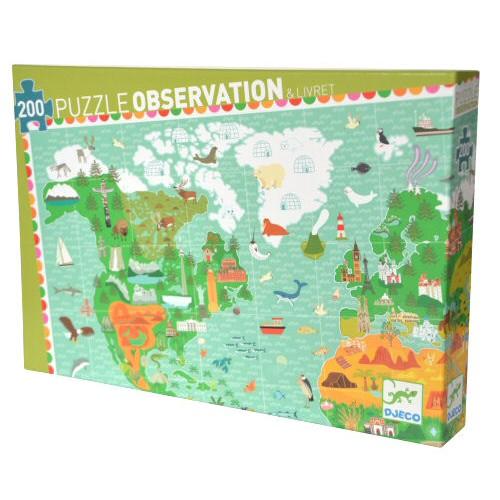 Djeco puzzel Reis rond de Wereld