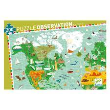 Djeco puzzel Reis rond de Wereld-1347