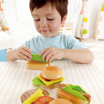 Hape hamburger en hotdog maken-1395