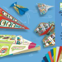 Djeco origami, vliegtuigjes vouwen