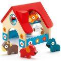 Djeco mini boerderij inclusief boerderijdieren-0