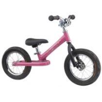 De Wheelyrunner is een stoere, stalen loopfiets voor kinderen vanaf 2 à 3 jaar, kleur roze.
