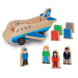 Melissa & Doug, vliegtuig inclusief passagiers en bagage.