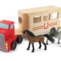 Melissa & Doug, truck met paardentrailer, inclusief 2 paarden.