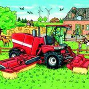 Haba, 3 legpuzzels landbouw machines.-2042