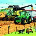 Haba, 3 legpuzzels landbouw machines.-2043