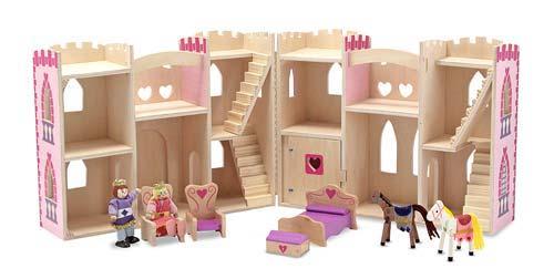 Melissa & Doug,prinsessen kasteel roze, inclusief accessoires -2021