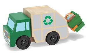 Melissa & Doug, vuilniswagen met vuilcontainer