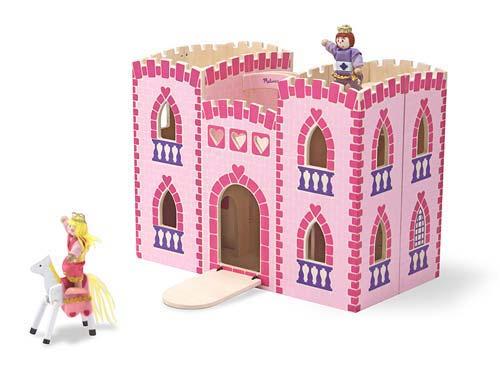 Melissa & Doug,prinsessen kasteel roze, inclusief accessoires