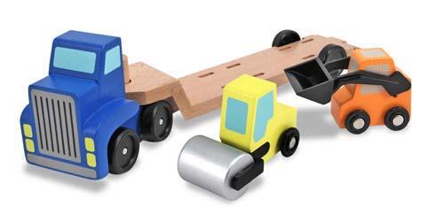 Melissa & Doug, truck met dieplader inclusief wals en shovel