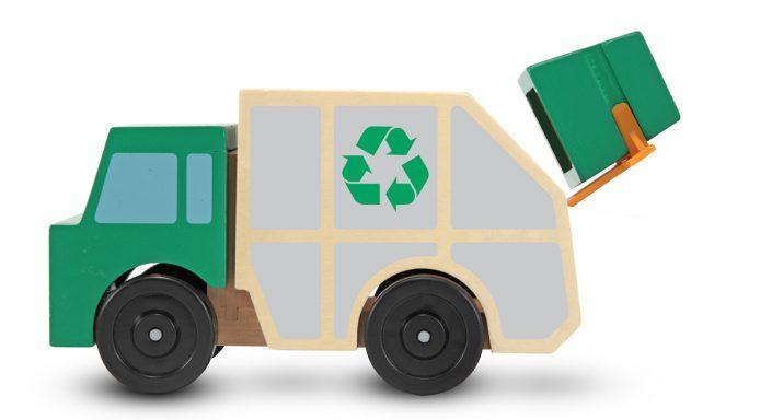 Melissa & Doug, vuilniswagen met vuilcontainer-1918