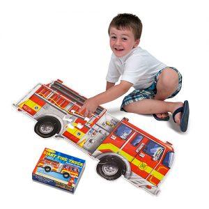 Melissa & Doug, vloerpuzzel brandweerwagen, 24 stukjes
