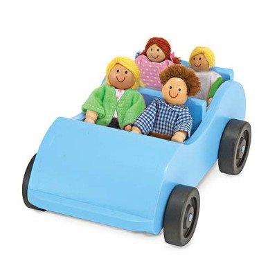 Melissa & Doug Poppenhuis poppetjes met auto