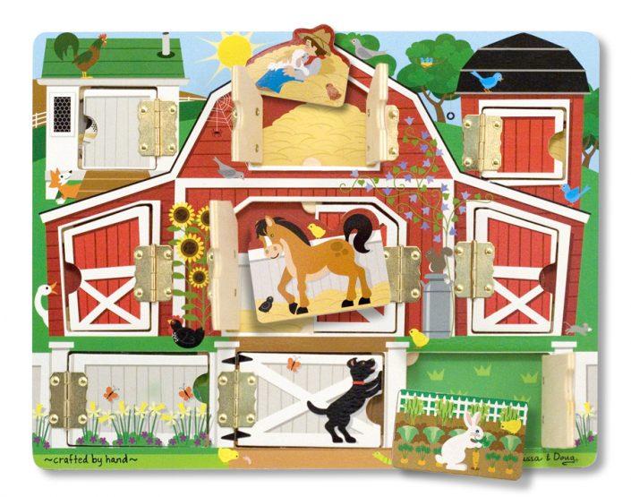 Melissa & Doug Houten speelgoed Puzzel en spel