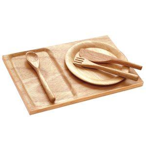 Santoys Dienblad met bord en bestek