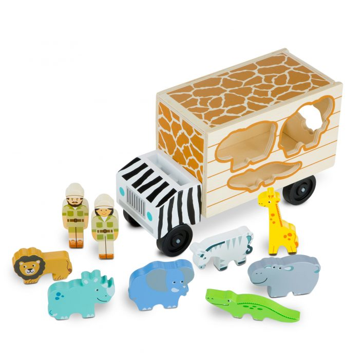 Melissa & Doug, vormentruck safari-2423