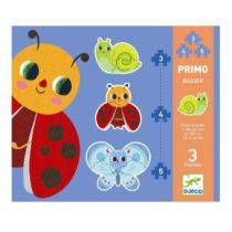 Djeco 3 puzzels in de tuin. 3-4-5 stukjes