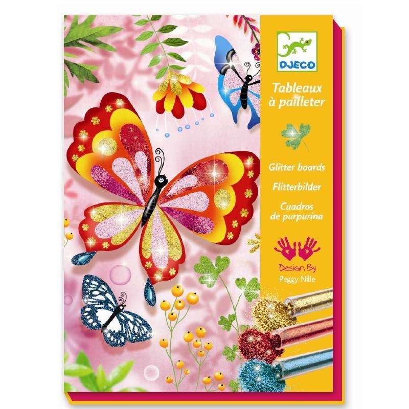 Djeco glitter vlinders