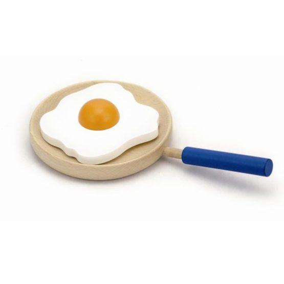 Koekenpan met gebakken ei.