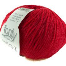 Ambiance 100% merinowol met 120 meter per 50 gram, kleur 238 Vuur-rood