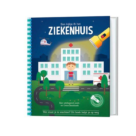 Zaklamp-boek ziekenhuis.