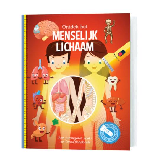 Zaklamp-boek ontdek het menselijk lichaam