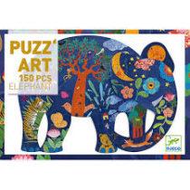 Djeco puzzel puzz'art, olifant