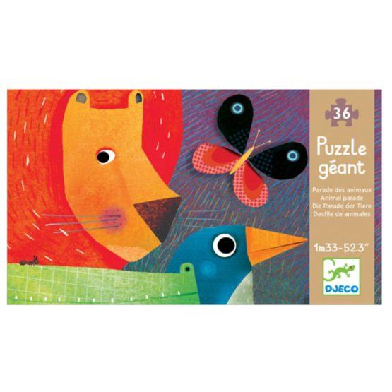 Djeco puzzel grote dierenparade 36 stukjes