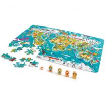 Hape 2-in-1 wereldkaartpuzzel en spel